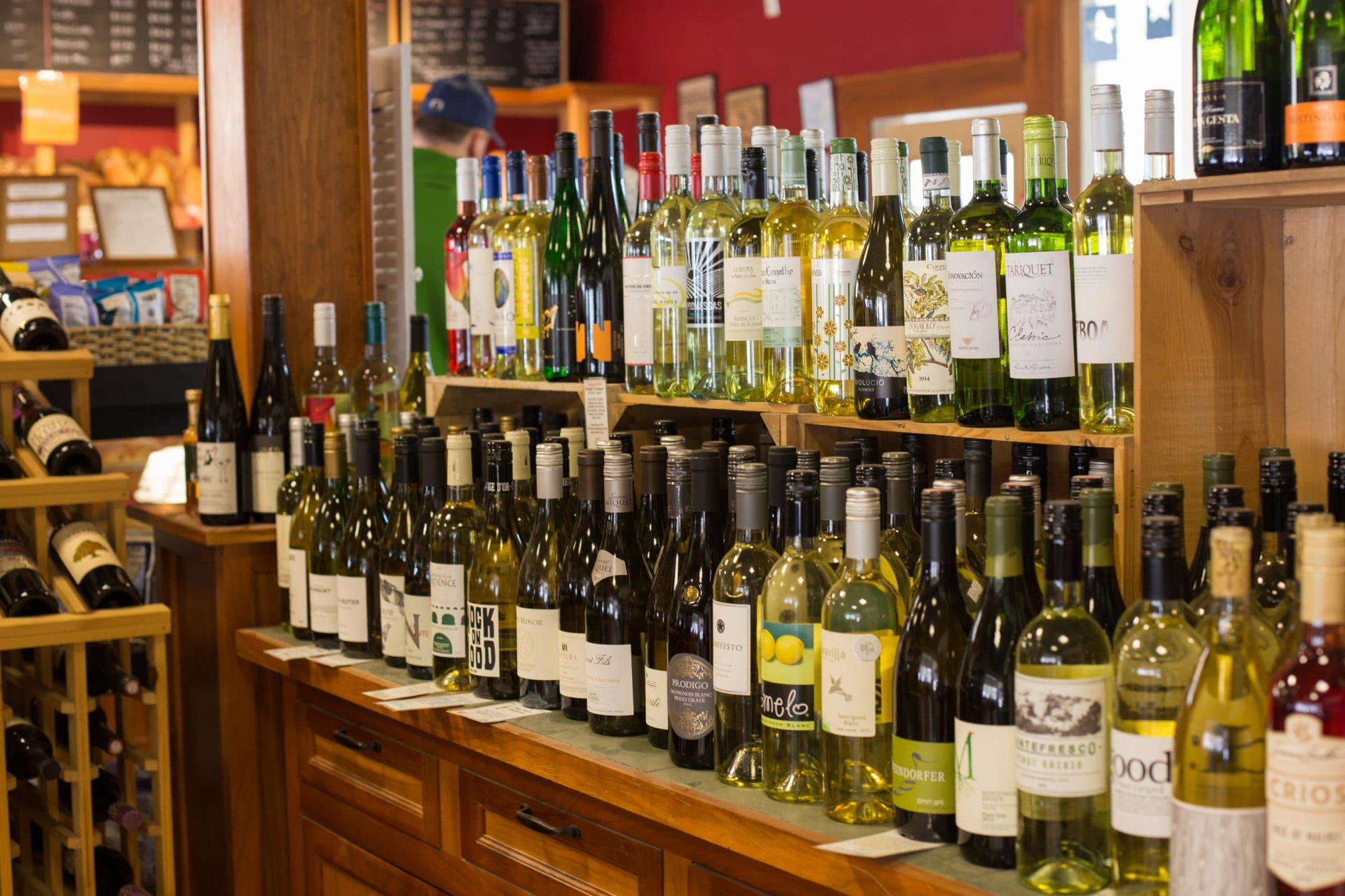 Cafe wine selection