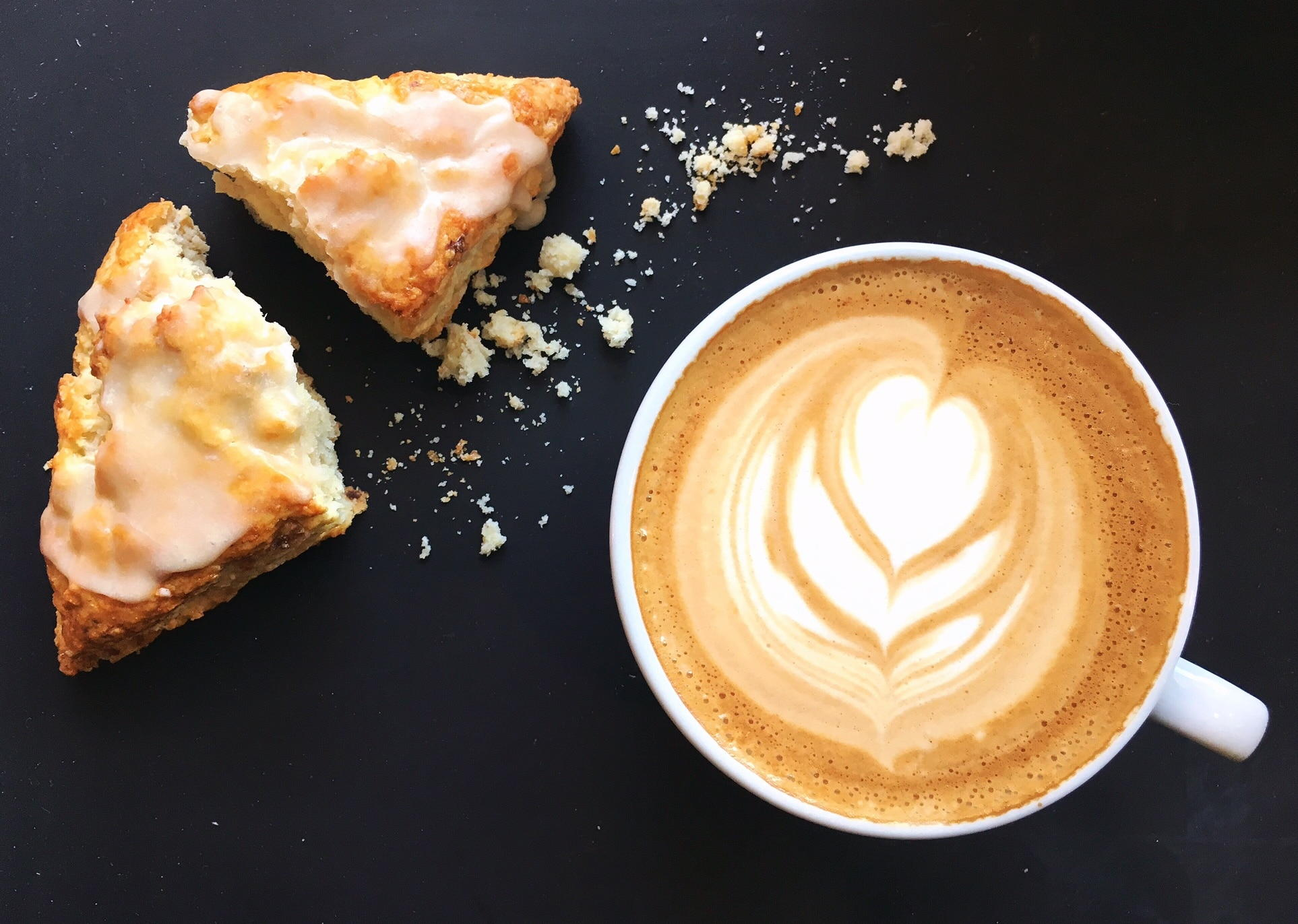 latte and scone
