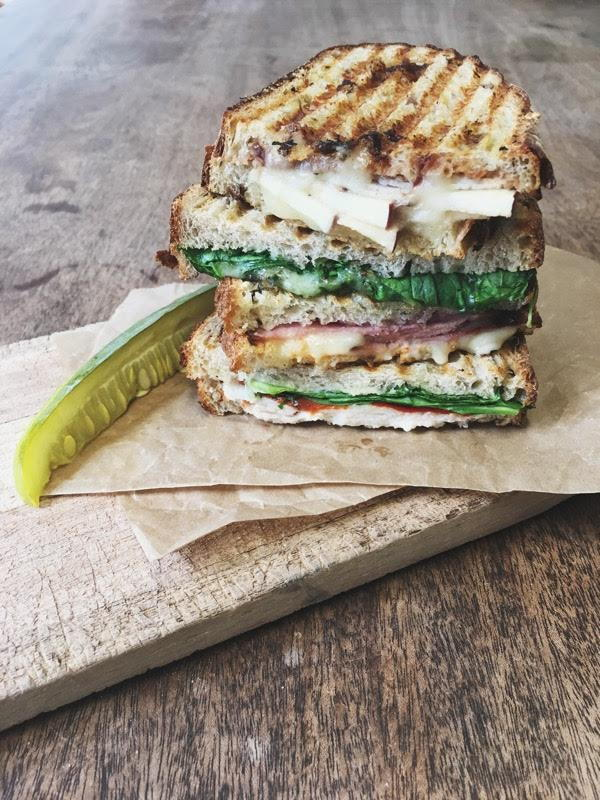Red Hen grilled panini sandwiches